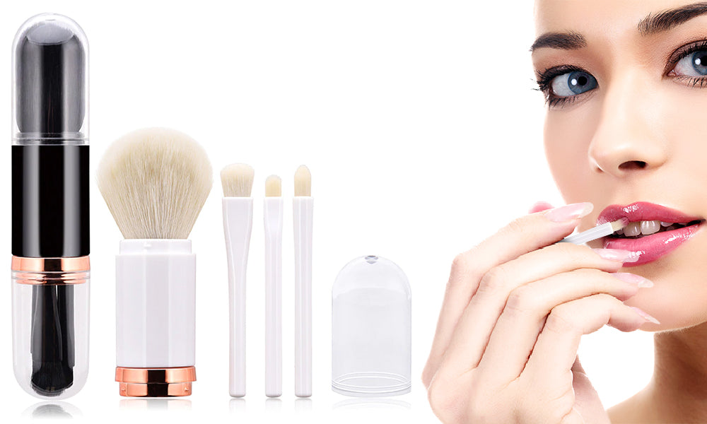 4in1 Portable Make Up Brushes