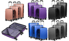 ABS Three-Piece Luggage Set