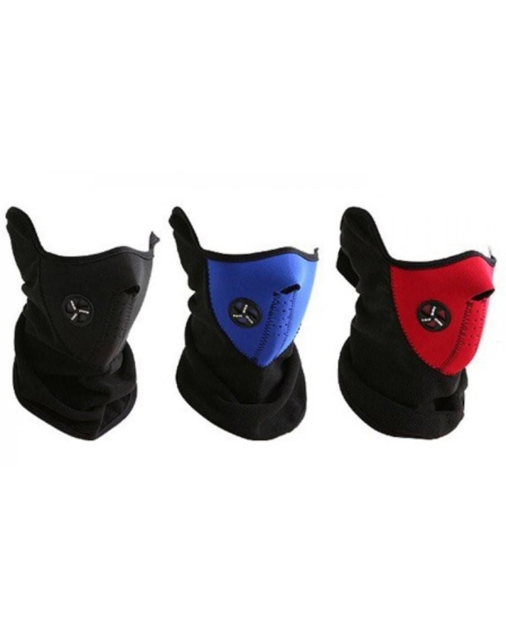 3 x NEOPRENE NECK WARMER HALF FACE MASK