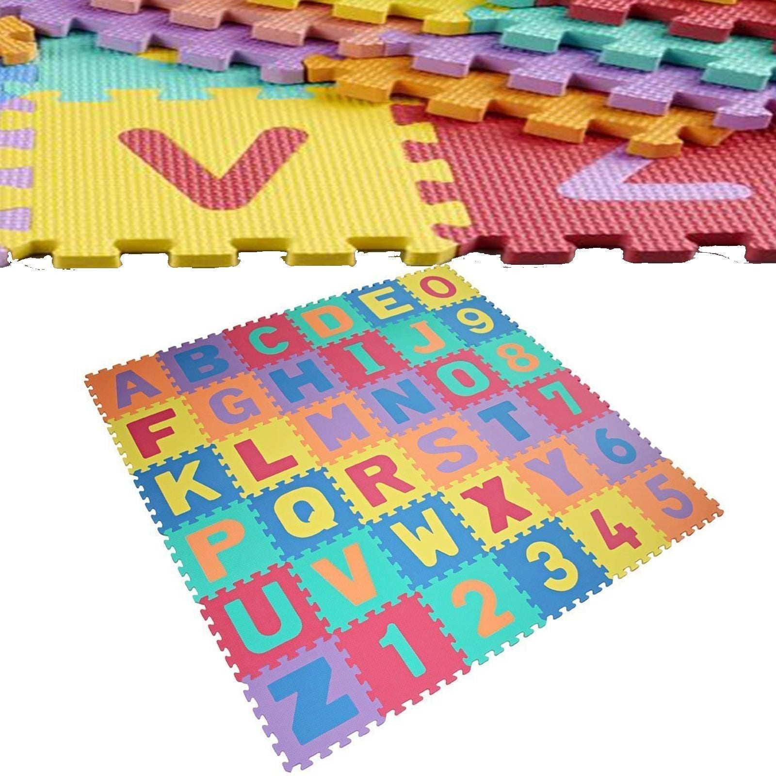 ALPHABET & NUMBERS SOFT FOAM PLAY PUZZLE MATS CHILDREN KIDS PLAY