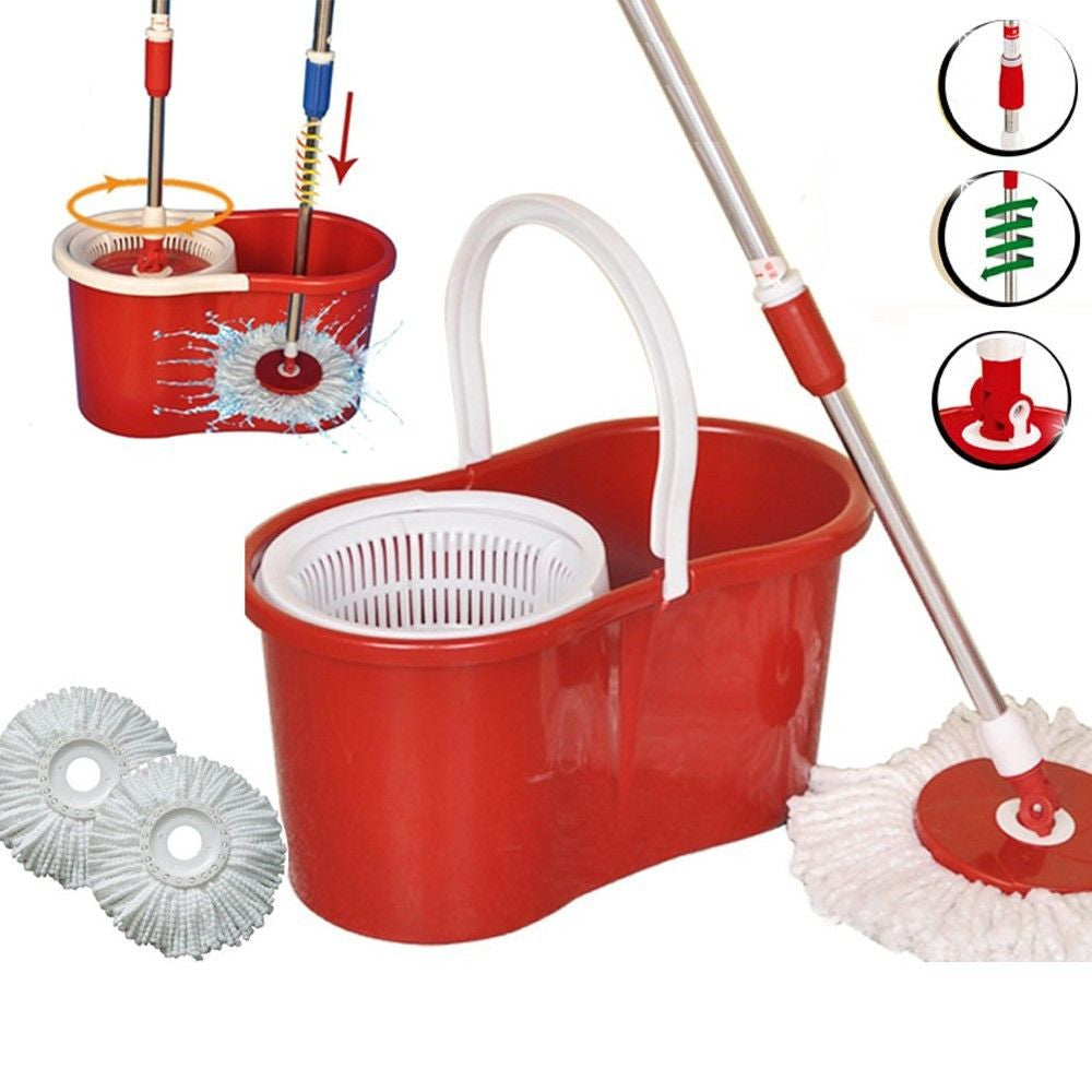 360° SPINNING ROTATING SPIN FLOOR MOP & BUCKET SET