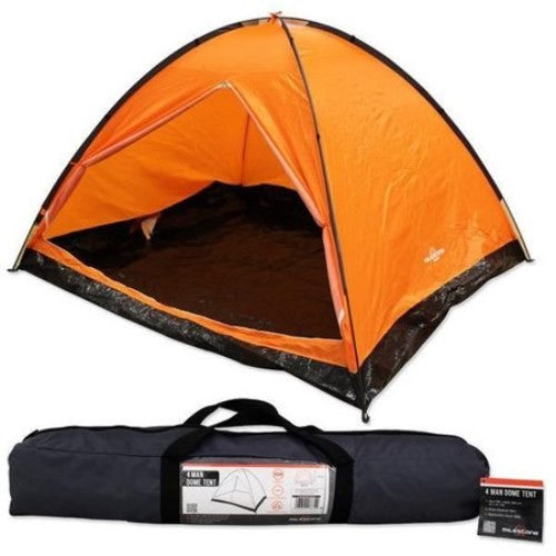 4 Man Berth Lightweight Quick Pitch Dome Summer Festival Camping Tent