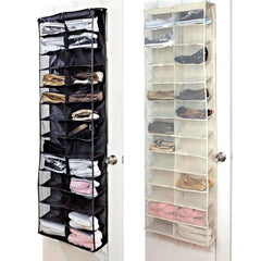 26 Pair Over The Door Hanging Shoe Organiser Storage Rack Shelf Holder