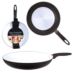 28cm Large Ceramic Coated Non Stick Coating Frying Pan Kitchen Cooking Egg