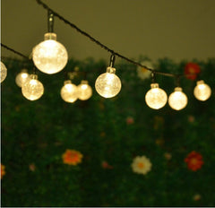 30 Led Crystal Ball Patio String Light for Outdoor Garden