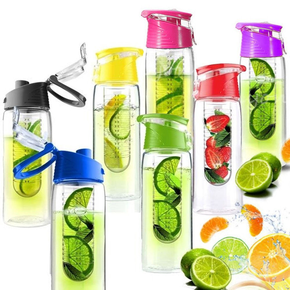 700ML Fruit Infusion Infusing Infuser Water Bottle Sports Health With Spout
