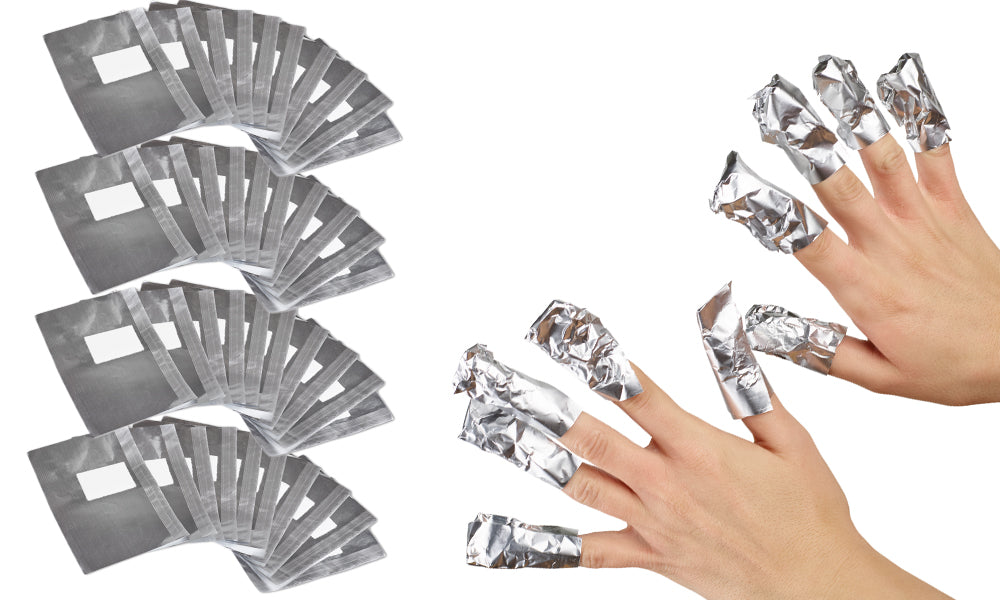 100pc Gel Nail Removal Foil Wraps