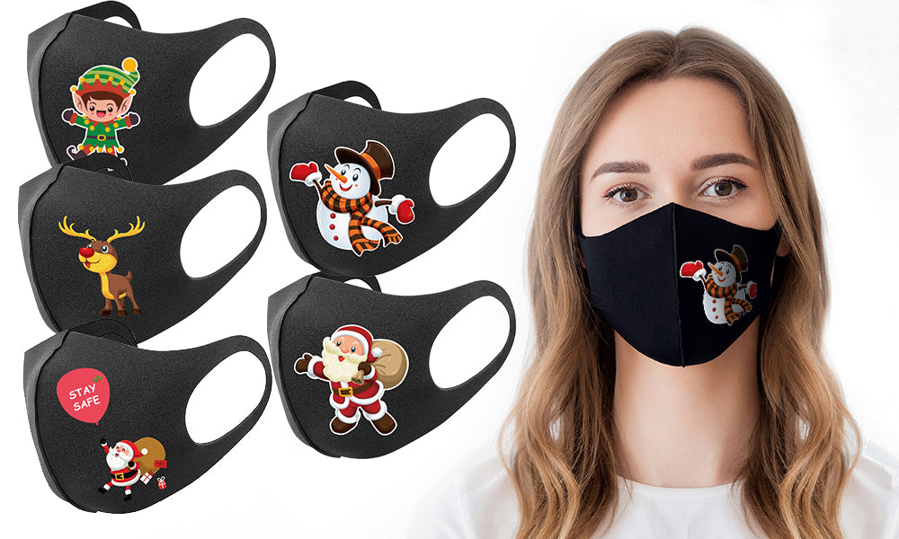 Christmas-Themed Face Mask