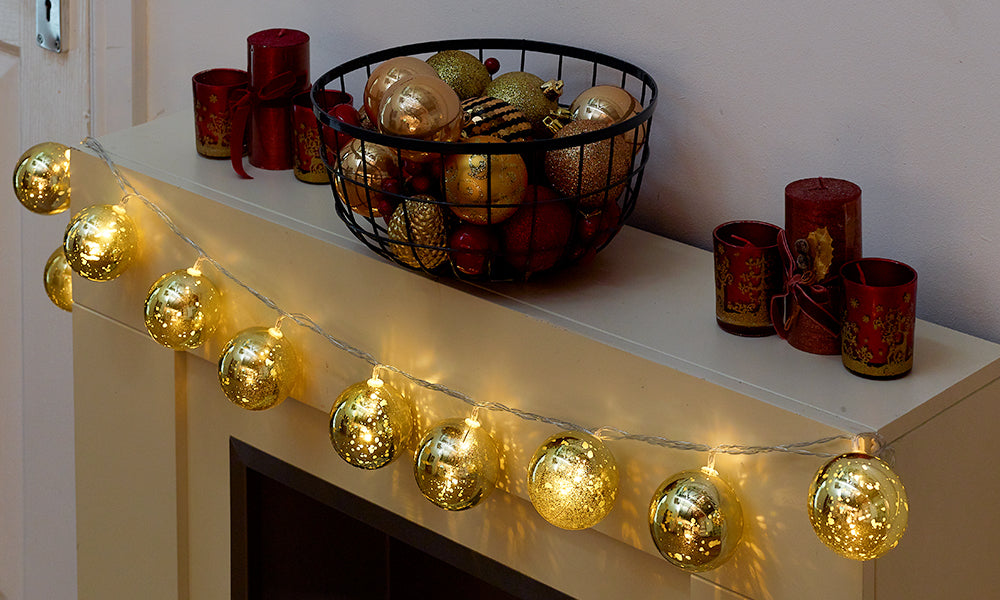 Golden Bauble Lights