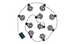 10 LED Black Cage Light
