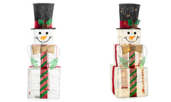 LED Christmas Snowman Boxes