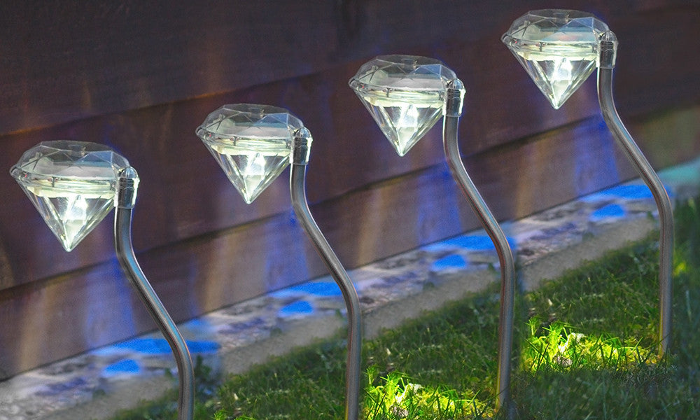 Solar Diamond Stake Light