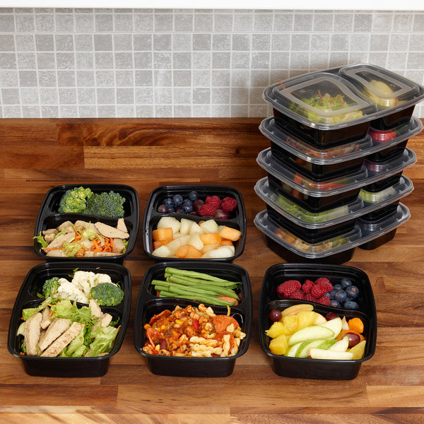 10 x food prep compartment containers sa products. Black Bedroom Furniture Sets. Home Design Ideas