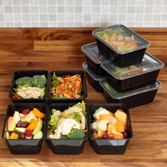 10 x Food Prep Compartment Containers