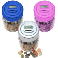 DIGITAL COIN JAR MONEY BOX