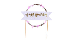 LED Happy Birthday Cake Topper