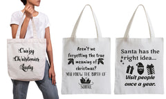 Christmas tote bags pitch
