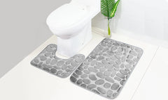 2pc Pebble Memory Foam Bathroom Mat