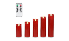 5 Pack Red Candle Set
