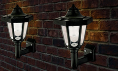 Solar-Powered LED Wall Lanterns
