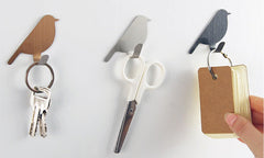 3 x Bird Keyring Cloth Hooks