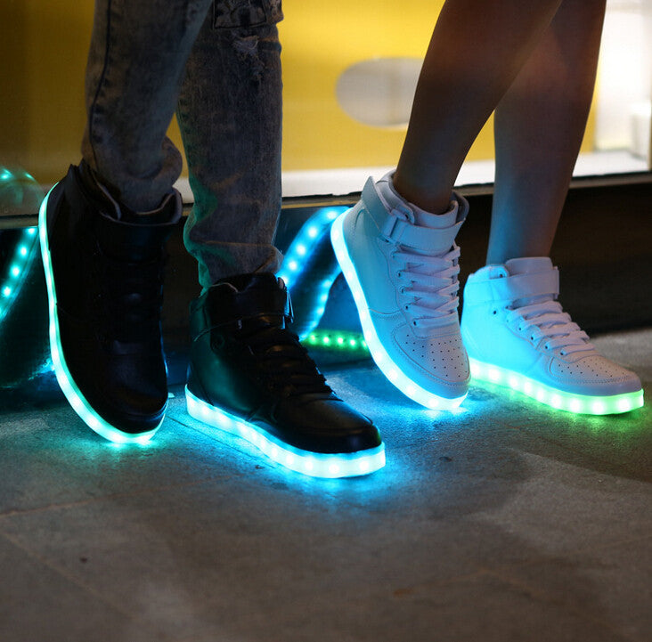 High-Top LED Light Up Trainers