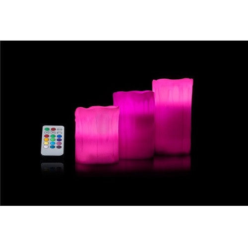 Remote Control Colour Changing Led Flameless Mood Wax Candles With Timer