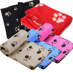 Paw Print Soft Fleece Blanket for Dogs, Puppys, Cats & Guinea Pigs