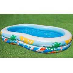 "103"" x 63"" x 18"" Inflatable Home Family Adult Garden Paddling Swimming Fun Pool"