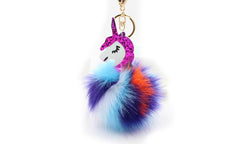 Rainbow Coloured Unicorn Key Chain