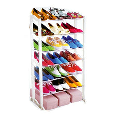 7 Tier Shoe Rack Storage Organiser Stand Shelf Holds 21 Pairs