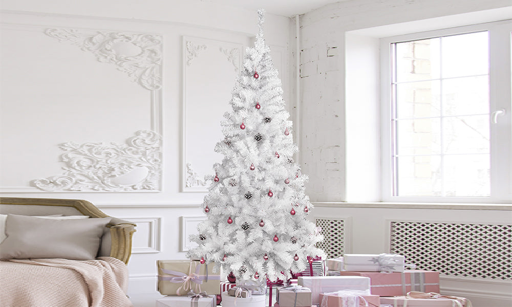 5ft/6ft Christmas Tree - White