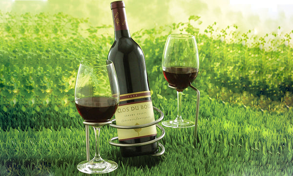 Garden Picnic Wine Bottle And Glasses Holder Sa Products