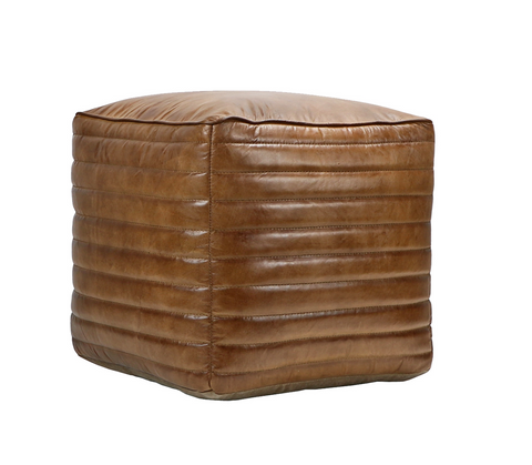Leather Footstool, Square