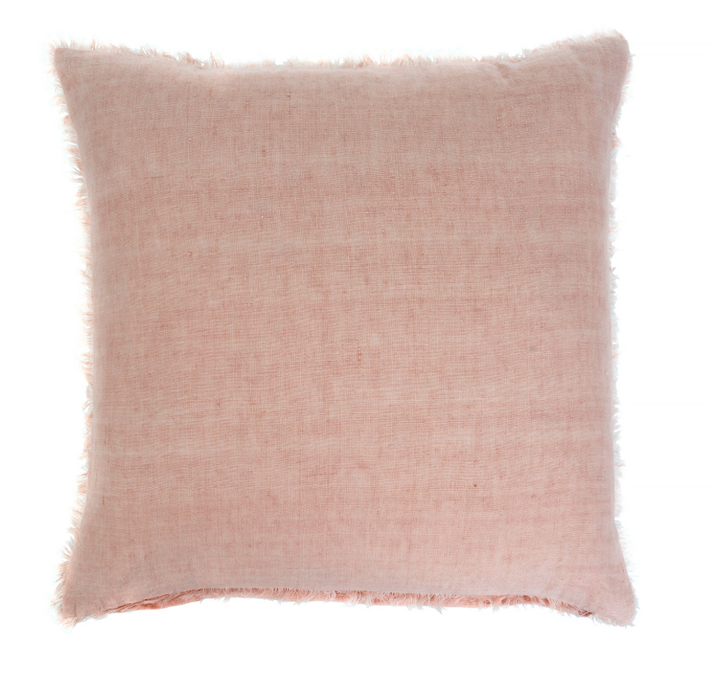 24x24 Linen Pillow, Peach Pink