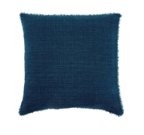 24x24 Linen Pillow, Cobalt