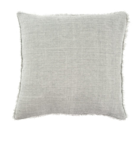 24x24 Linen Pillow, Flint Gray