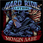 Hard Ride Clothing Molon Labe Patriot Microfiber Duvet Cover