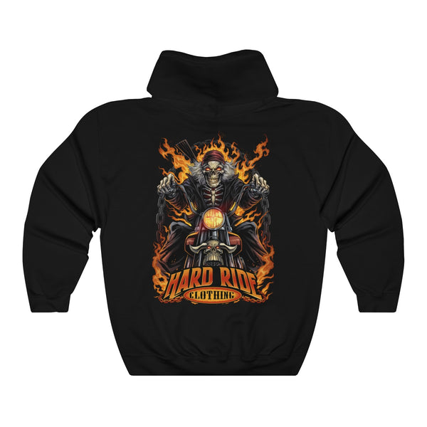 Hard Ride Clothing® Skeleton Biker Unisex Hoodie