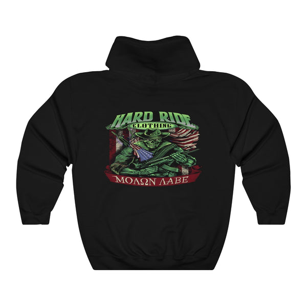 Hard Ride Clothing® Molon Labe Patriot St. Patrick's Day Unisex Heavy Blend™ Hooded Sweatshirt