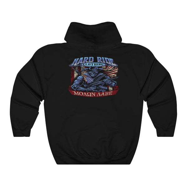 Hard Ride Clothing Molon Labe Patriot Uni Hoodie