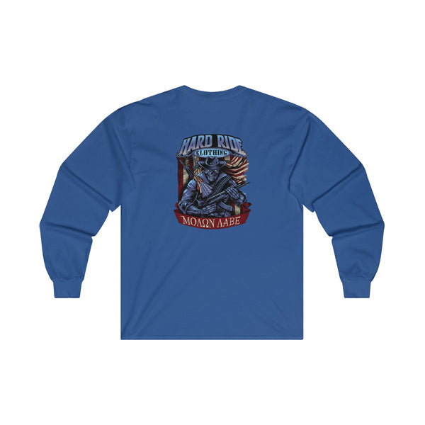 Hard Ride Clothing Molon Labe Patriot Ultra Cotton Long Sleeve Tee