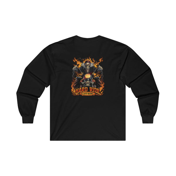 Hard Ride Clothing Skeleton Biker Long Sleeve T-Shirt