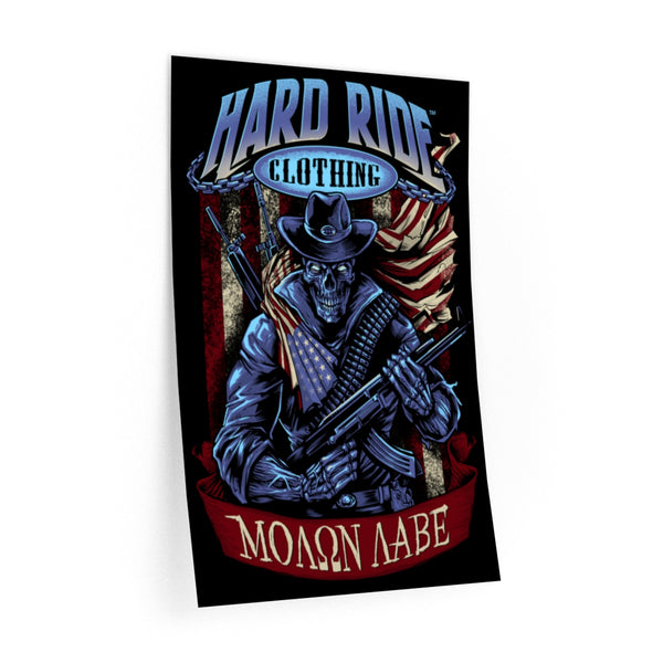 Hard Ride Clothing Molon Labe Patriot Wall Decal