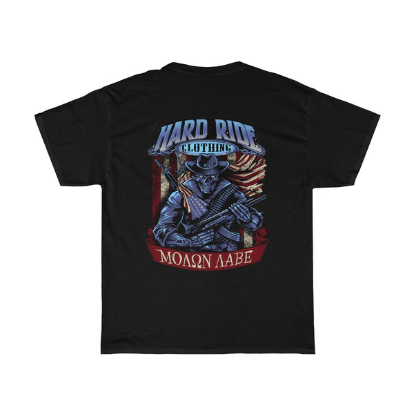 Hard Ride Clothing Molon Labe Patriot Men's T-shirt
