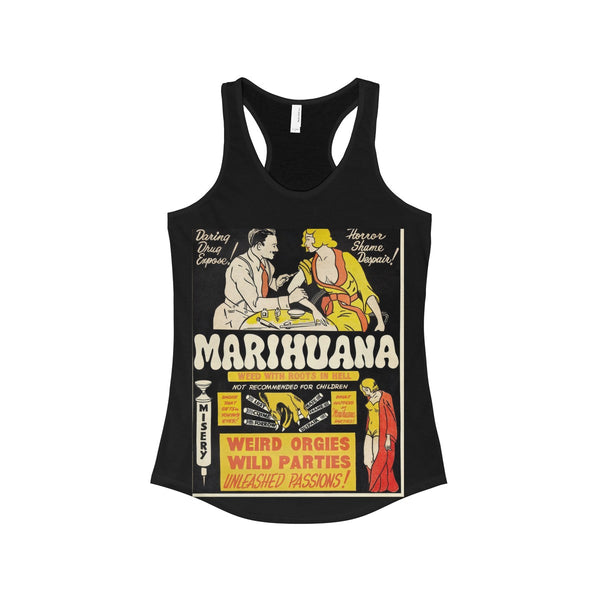 """Marihuana"" Vintage Reefer Madness Ad Women's Tank"