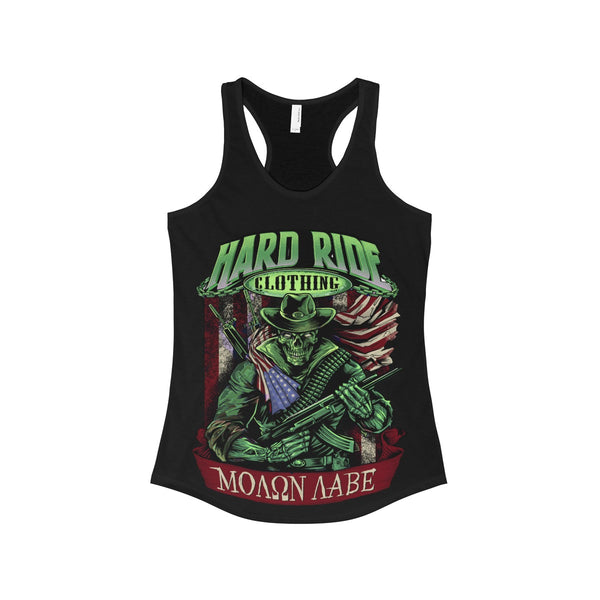 Hard Ride Clothing St. Patrick's Day Molon Labe Patriot Women's Ideal Racerback Tank