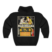 """Marihuana"" Reefer Madness Vintage Ad Hooded Sweatshirt"