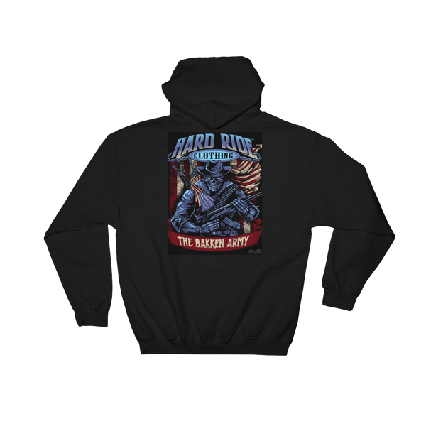Hard Ride Clothing® Bakken Army ® Patriot Uni Hoodie