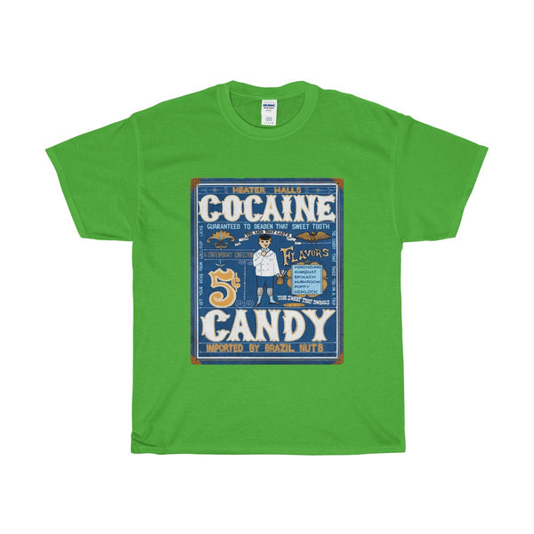 Heater Halls Cocaine Candy Vintage Ad T-shirt